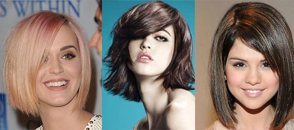 Разные цвета волос для каре
