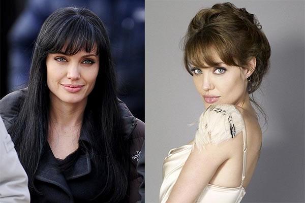 Челка Анжелины Джоли
