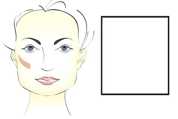 Квадратная форма лица: картинка