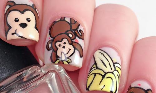 Маникюр с обезьяной