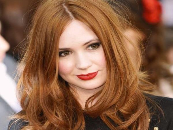 Лесенка на рыжих волосах