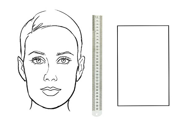 Прямоуголная форма лица
